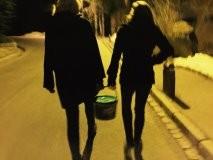 Al final mi amiga Susana y yo cargamos con las aceitunas...