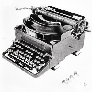 Máquina escribir Alex Arrechea